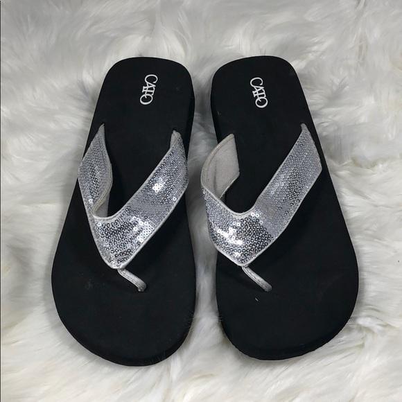 c70857eb8 Cato Shoes - Cato Silver Sequin Flip Flop